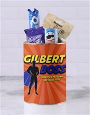 Personalised Superhero Boss Bro Bucket