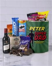 Personalised Superhero Father Bro Bucket