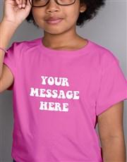 Personalised Retro Kids Pink T Shirt