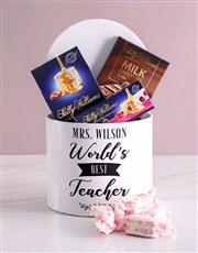 Personalised Best Teacher Nougat Box