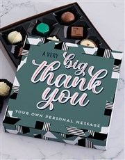 Personalised Big Thank You Chocolate Tray