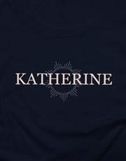 Personalised Starburst Graphic Ladies T Shirt