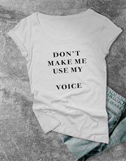 Personalised Professional Voice Ladies T Shirt