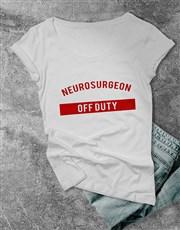Personalised Off Duty Ladies T Shirt