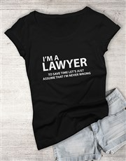 Personalised Never Wrong Ladies T Shirt