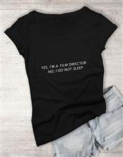 Personalised Too Busy To Sleep Ladies T Shirt