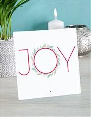 Personalised Christmas Joy Glass Tile