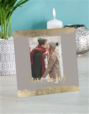Personalised Love And Joy Glass Tile