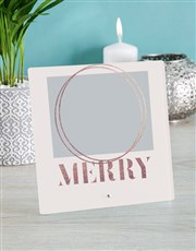 Personalised Merry Glass Tile