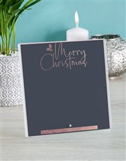 Personalised Merry Christmas Glass Tile
