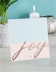Personalised Pink Joy Glass Tile