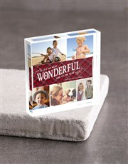 Personalised Wonderful Acrylic Block