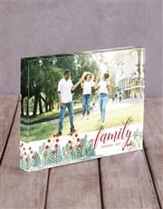 Personalised Family Acrylic Block