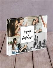 Personalised Holidays Acrylic Block