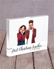 Personalised First Christmas Acrylic Block