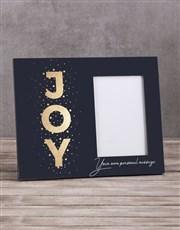 Personalised Joy Photo Frame