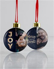 Personalised Merry Christmas Baubles