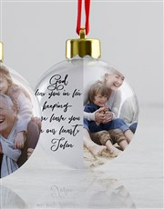 Personalised In Our Hearts Baubles