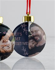 Personalised Merry And Joy Baubles