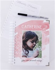 Personalised Pretty Pink Diary