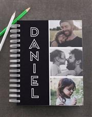Personalised Black Photo Trio Diary
