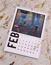 Personalised Modern Photo Wall Calendar