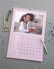 Personalised Pastel Photo Wall Calendar