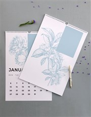 Personalised Botanical Photo Wall Calendar