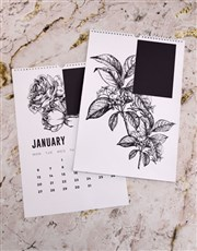 Personalised Botanical Sketch Wall Calendar