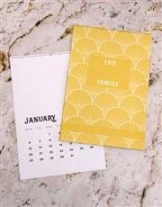 Personalised Sunshine Family Wall Calendar