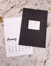 Personalised Geometric Wall Calendar