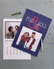 Personalised Me And You Wall Calendar