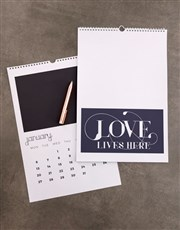 Personalised Love Lives Here Wall Calendar