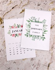 Personalised Lovely Leaves Photo Wall Calendar