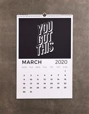 Personalised Greatest Journey Wall Calendar
