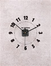 Personalised Surname Perspex Clock