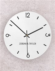 Personalised Couple Perspex Clock