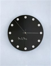 Personalised Dotted Perspex Clock