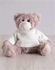 Teddy in Floral Drawstring Bag