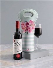 Personalised Floral Wine Carrier