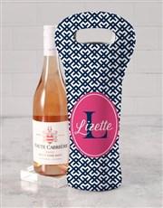 Personalised Elegant Wine Carrier