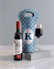 Personalised Blue Haven Wine Carrier