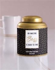 Personalised Amazing Boss Tea Tin