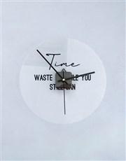 Personalised Waste Time Perspex Clock