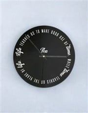 Personalised Good Use Of Time Perspex Clock