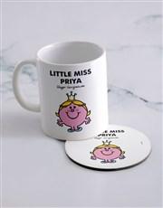 Personalised Little Princess Mug And Coaster