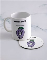 Personalised Little Miss Naughty Mug And Coaster
