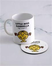 Personalised Little Miss Sunshine Mug And Coaster
