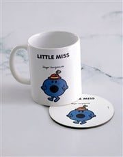 Personalised Little Miss Bossy Mug And Coaster