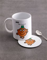 Personalised Mister Clever Mug And Coaster